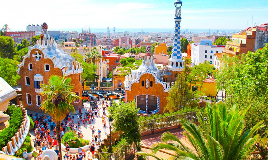 Barcelona - farverig bybillede