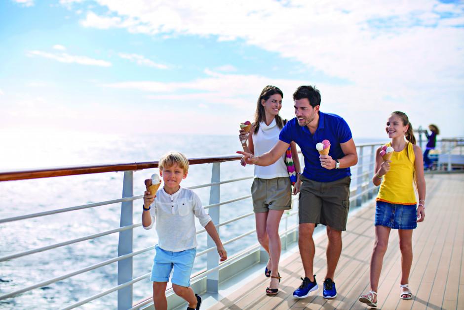 Familie på Costa Cruise