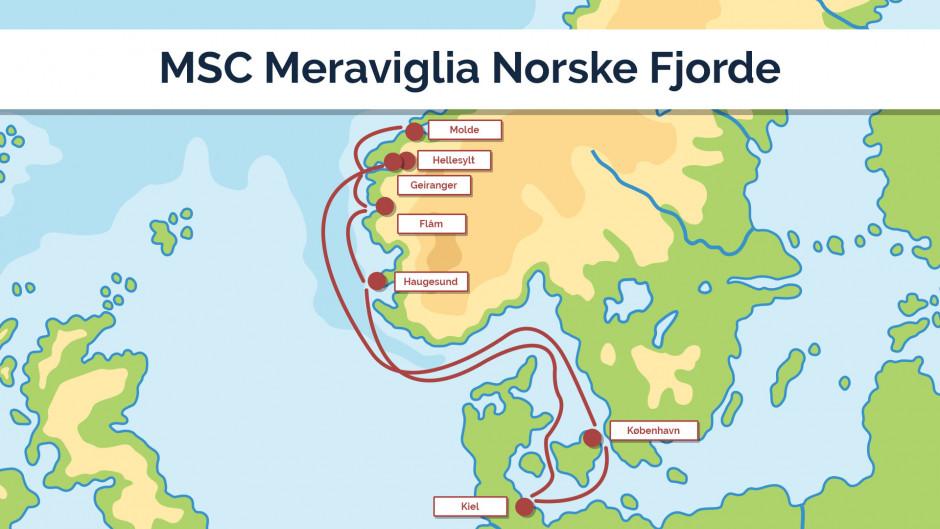 MSC Meraviglia Norske Fjorde - sejlplan 3
