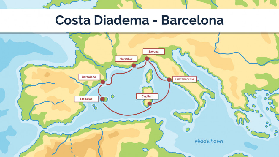Costa Diadema - Barcelona sejplan 2