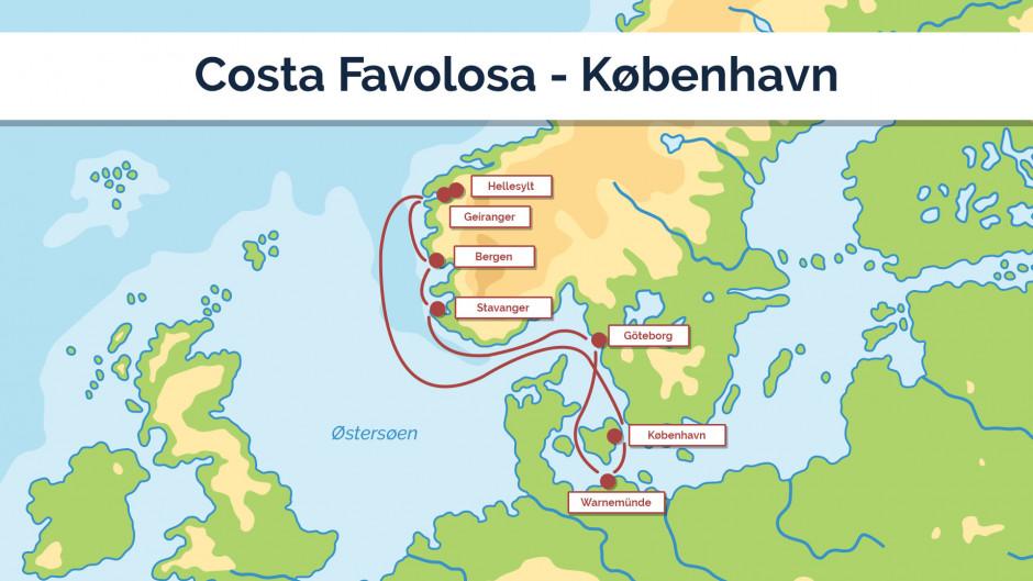 Costa Favolosa - København