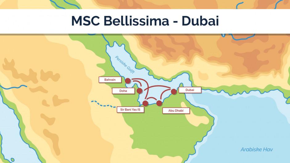 MSC Bellissima - Dubai - sejlpan 1
