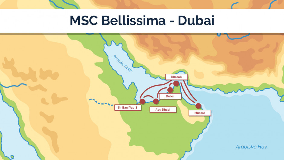 MSC Bellissima - Dubai - sejlpan 2