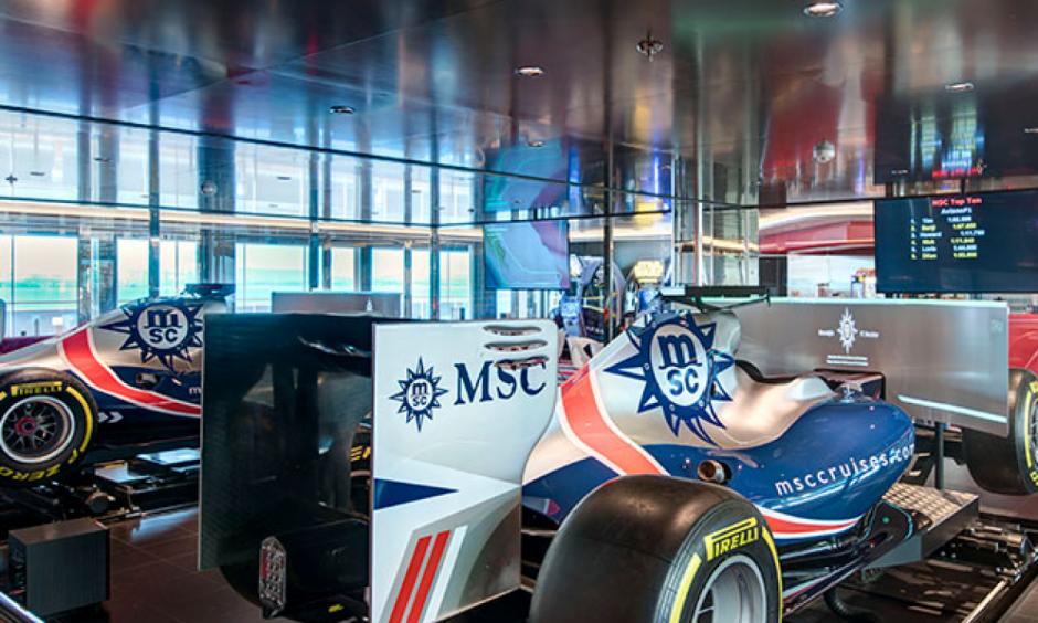 Formel 1-simulator MSC Grandiosa