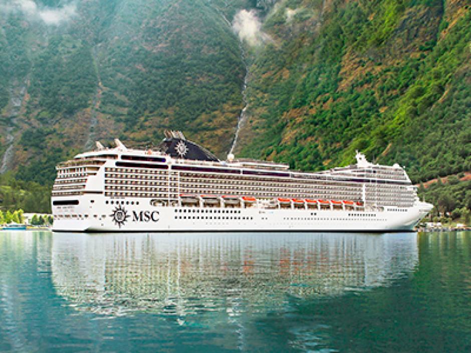 MSC skib - Norske Fjorde