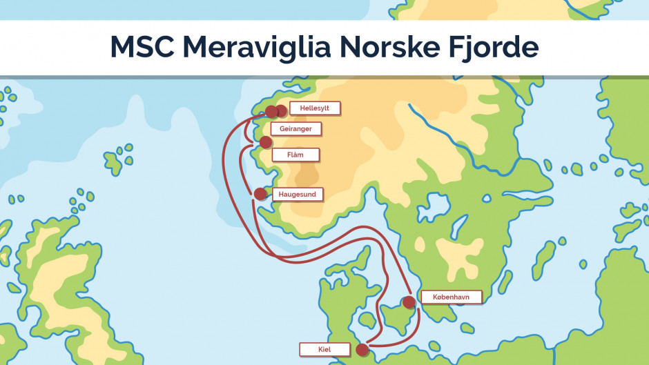 MSC Meraviglia Norske Fjorde - sejlplan 2