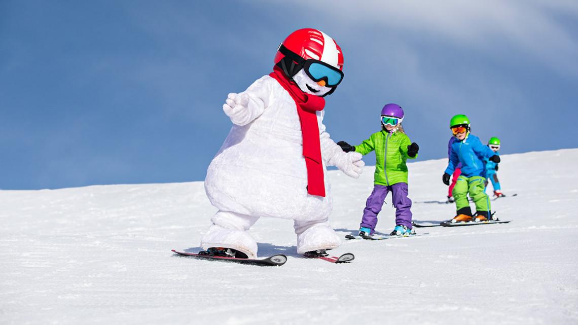 Valle på ski