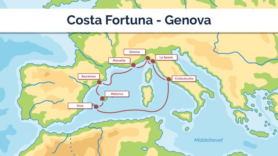 Costa Fortuna - Genova - sejlplan 2