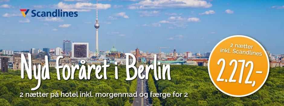 Forår i Berlin med blå himmel