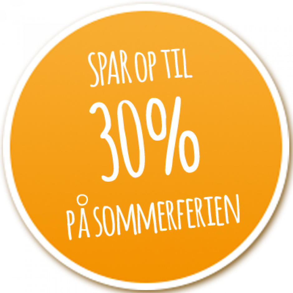 Spar 30% på sommerferien