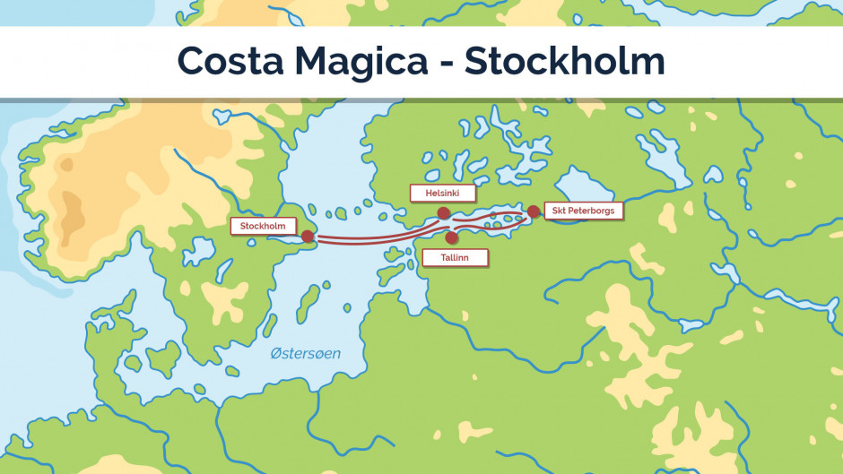 Costa Magica - Stockholm - sejplan