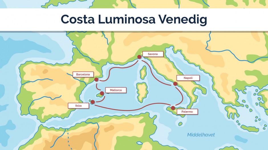 Costa Luminosa - Venedig - sejlplan 2
