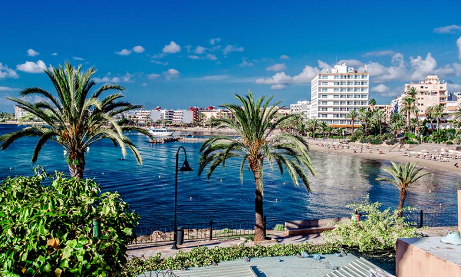 Ibiza - Palmer langs promenaden