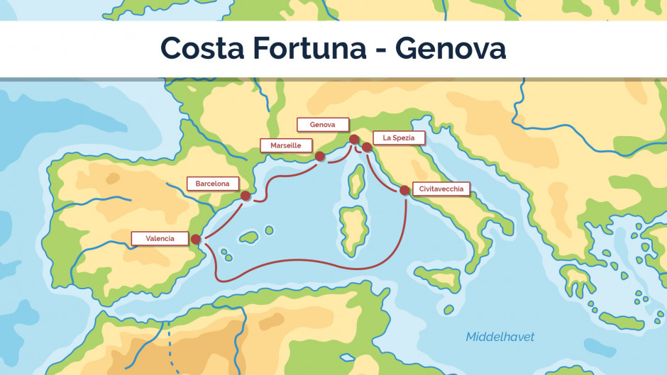 Costa Fortuna - Genova - sejlplan 1
