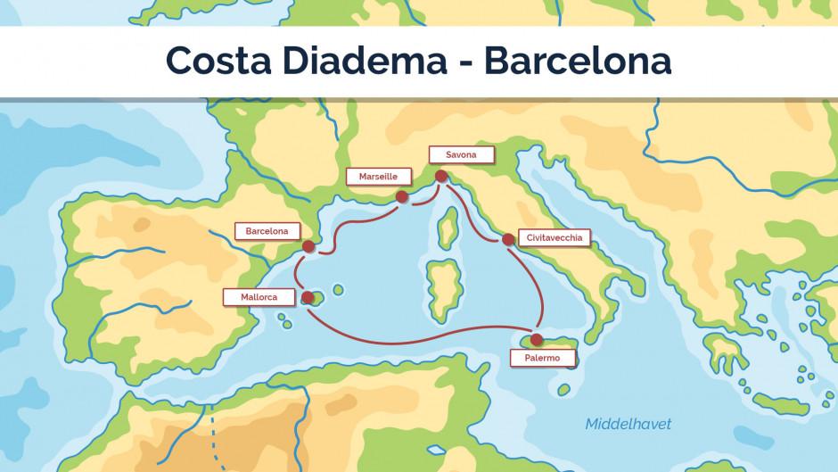 Costa Diadema - Barcelona sejplan 1