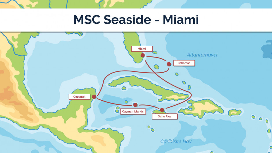 MSC Seaside - sejlplan 2
