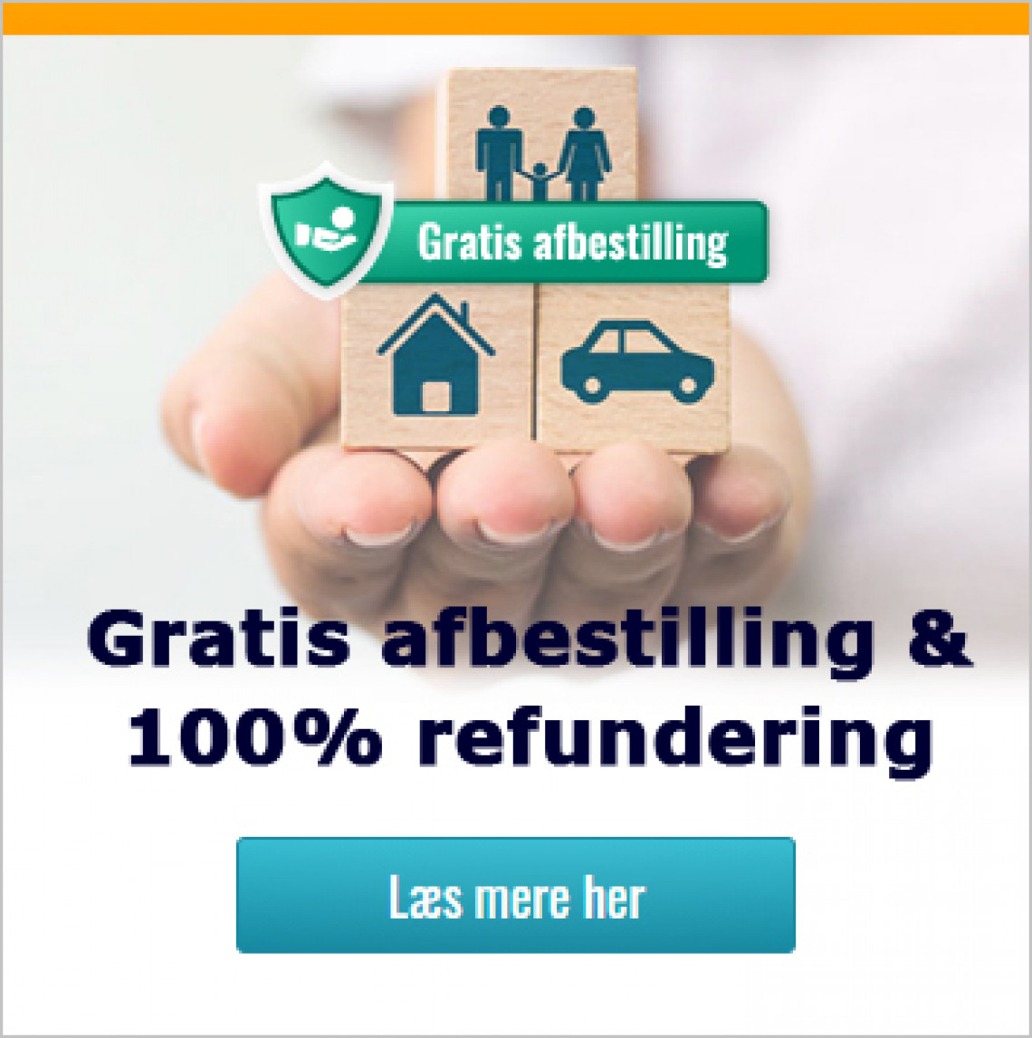 dansk bilferie, gratis afbestilling