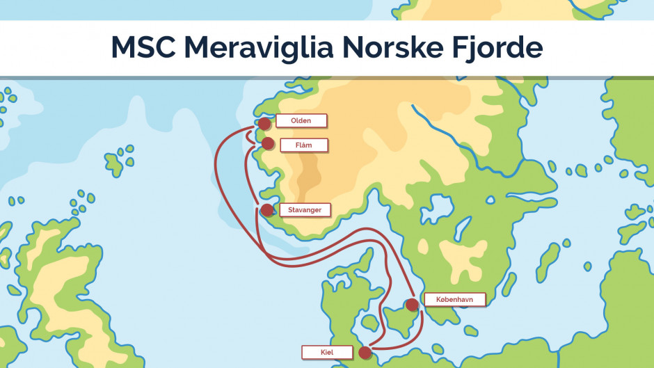 MSC Meraviglia Norske Fjorde - sejlplan 4