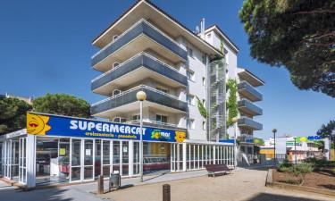 Lejlighedshotellet Solmar i Blanes i Costa Brava, Spanien