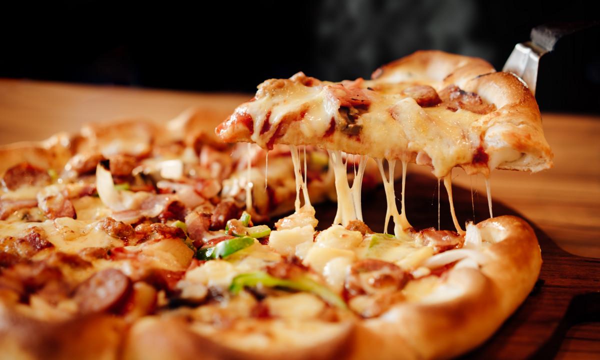 En lækker pizza