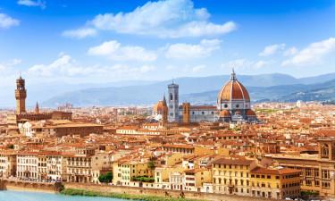 Firenze i Toscana - Katedralen og floden der loeber ved