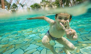 Le Bois aux Daims - Dreng kaster håndtegn under vandet