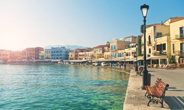 Havnen i Chania paa Kreta