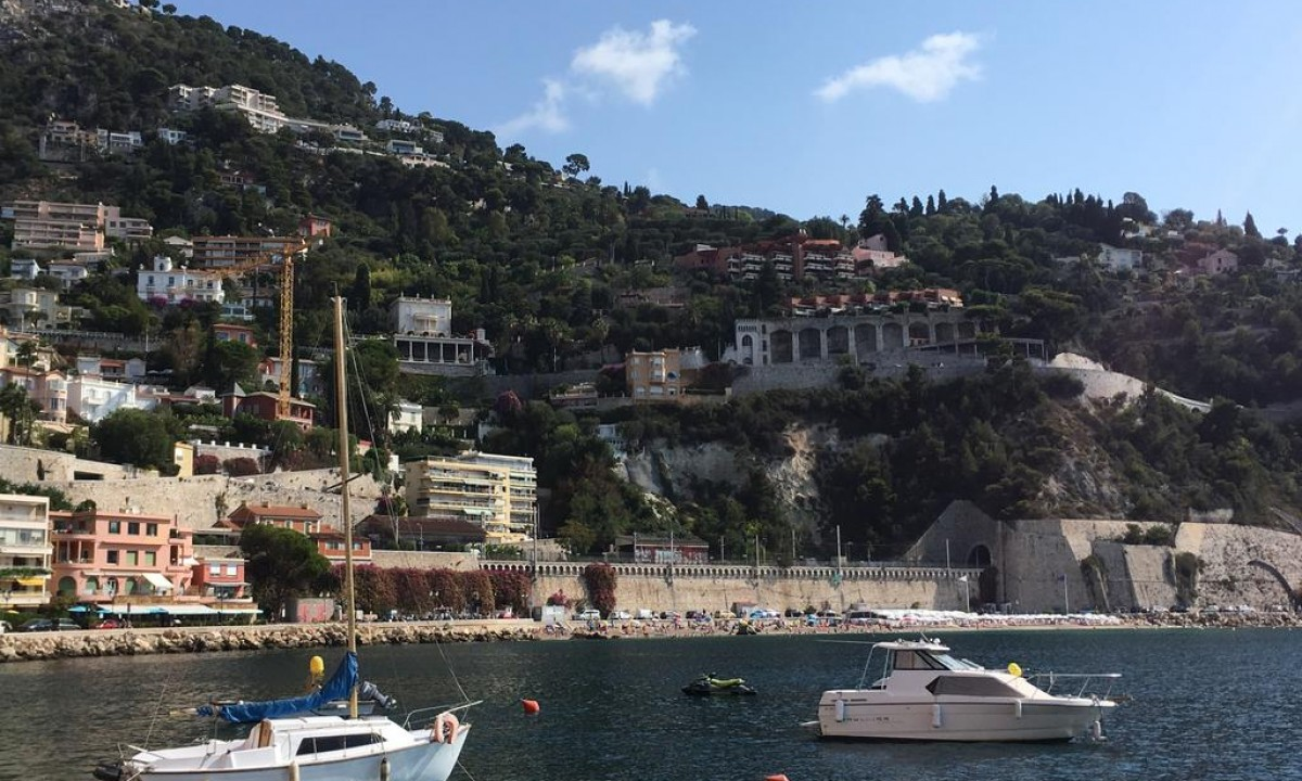 Det smukke omraade ved Cote d'Azur og Nice