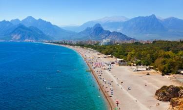 Strand i Antalyia i Tyrkiet