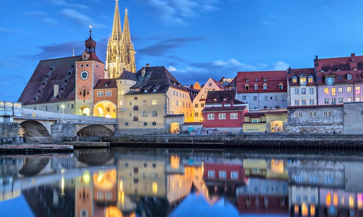 Regensburg i Sydtyskland