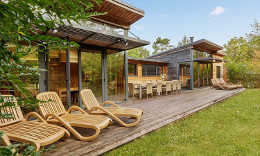 Les Hauts de Bruyères - Feriehusets terrasse