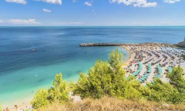 Stranden ved Adriaterhavskysten, Italien