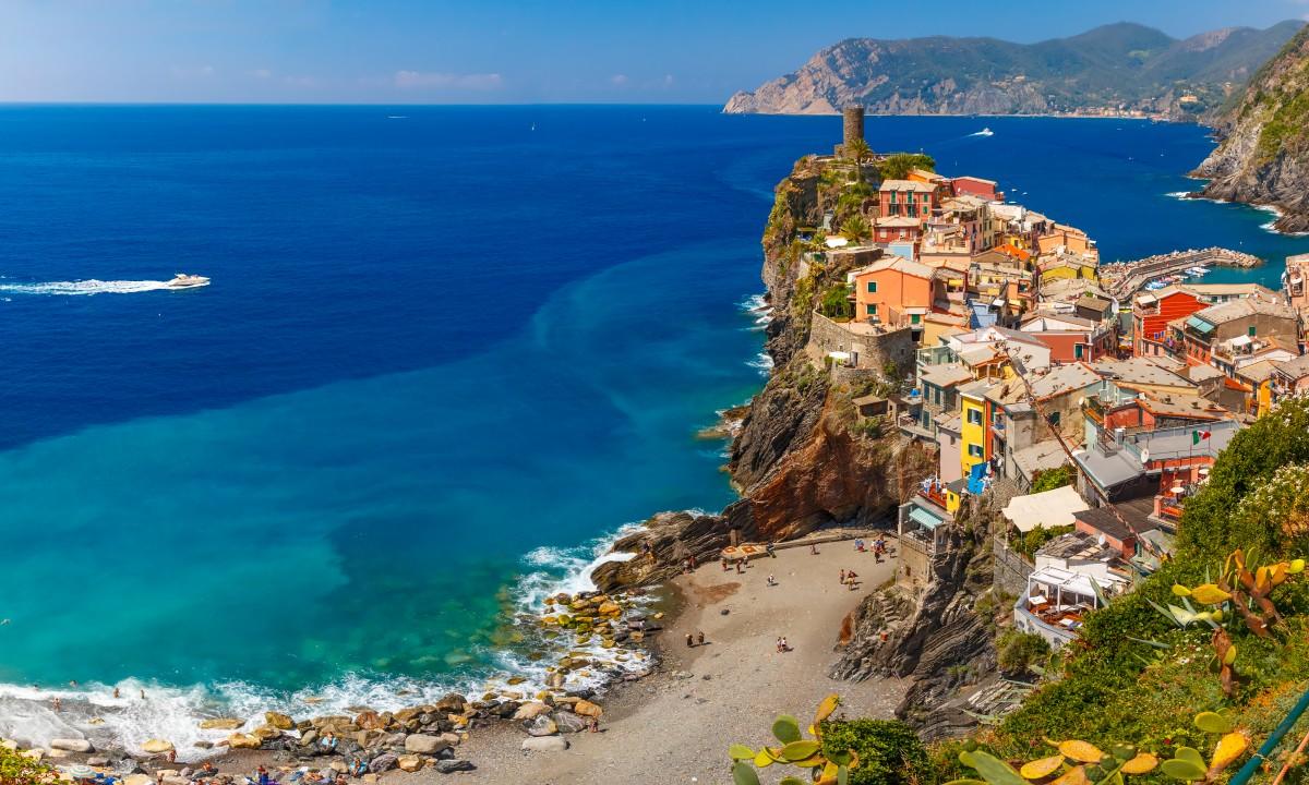 Cinque Terre i Ligurien, Italien