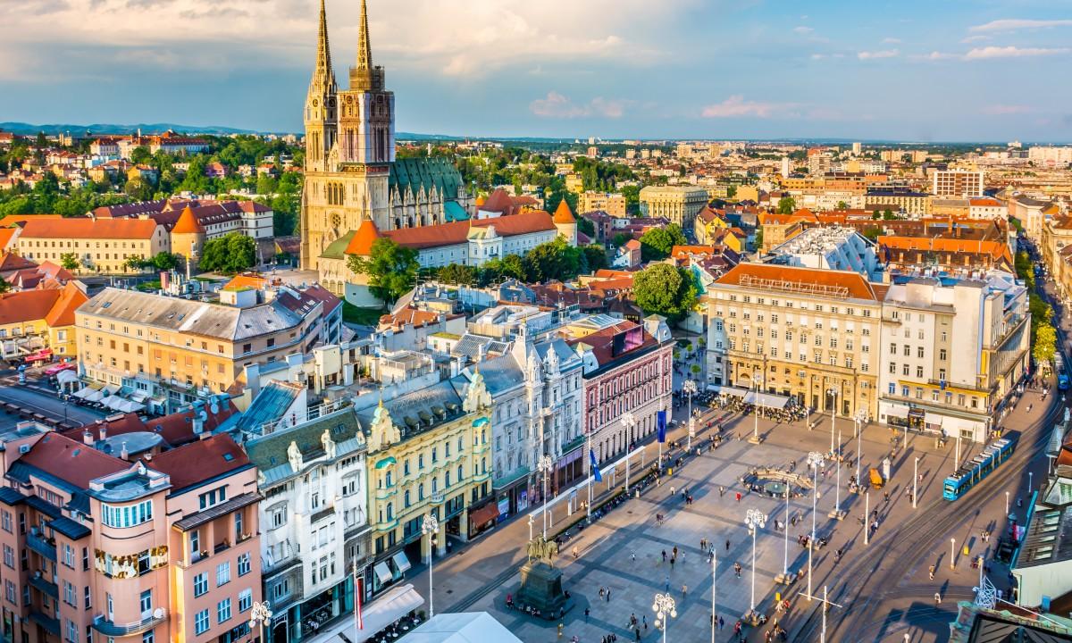 Hovedstaden Zagreb i Kroatien
