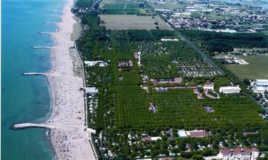 Camping Union Lido på kysten