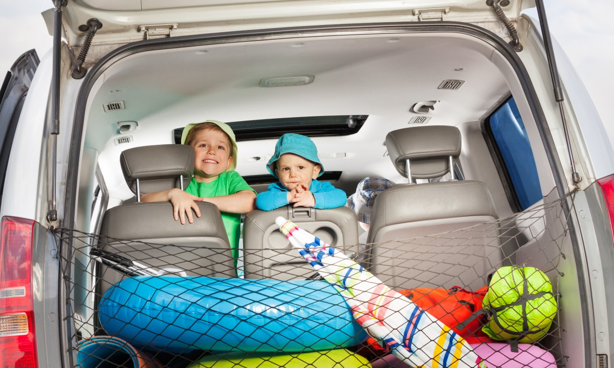 Børn i bilen - På vej på badelandsferie