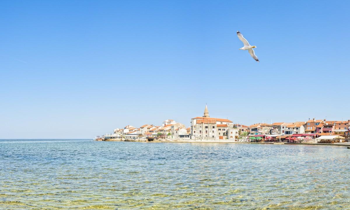 Umag i Istrien i Kroatien