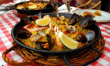 Essen Camping Girona an der Costa Brava