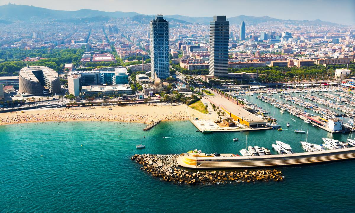 Stranden i Barcelona