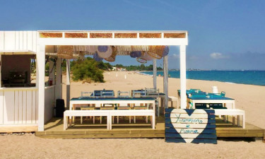 Strandbar Camping Miramar an der Costa Dorada