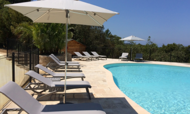 Pool Camping Lacasa auf Korsika