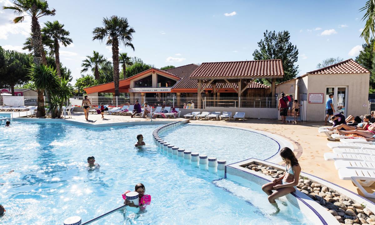 Den skønne pool ved Les Sablines