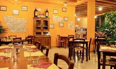 Restaurant Camping Colleverde in der Toskana
