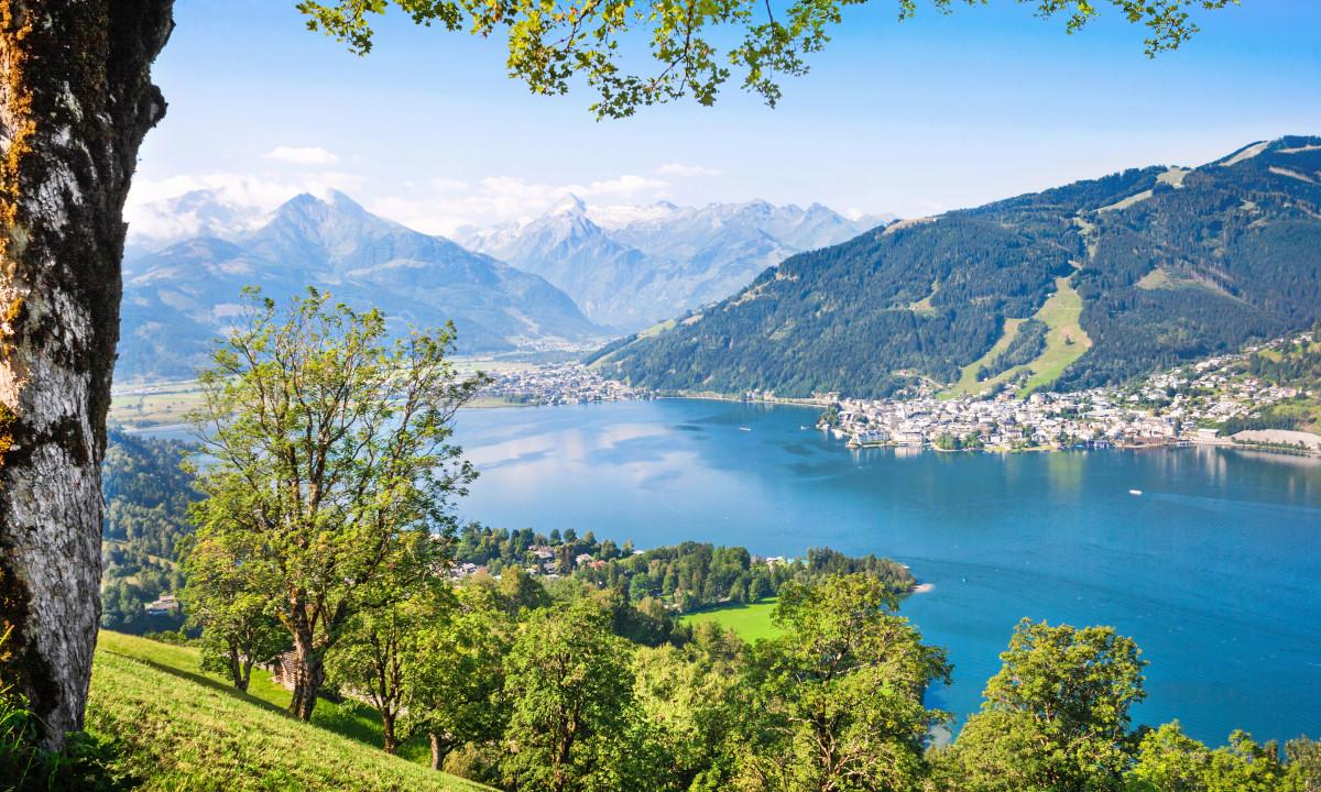 Zell am See - Udsigt til den populære badesø