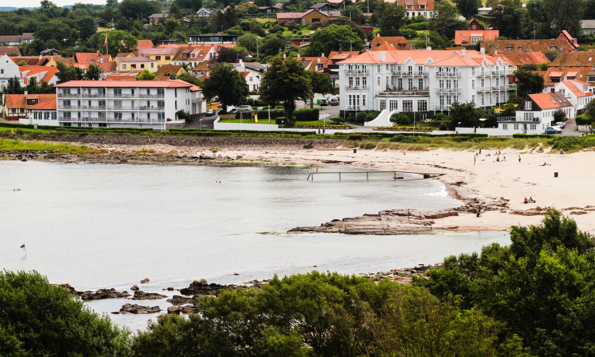 Sandvig Søpark - Stranden i Sandvig