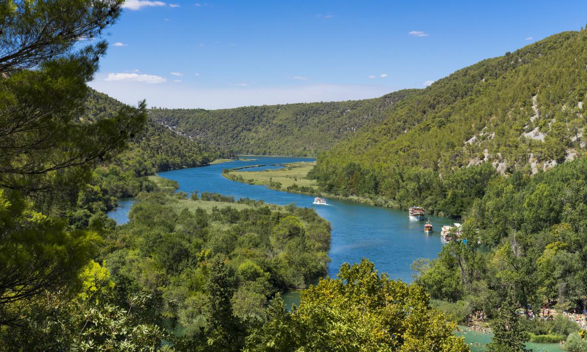 Krka nationalpark i Kroatien