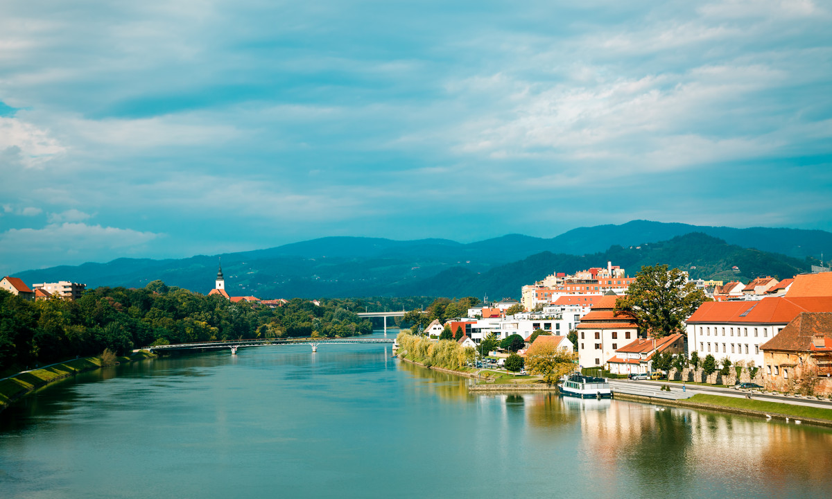 Maribor i Slovenien - Flod i flot naturomraade