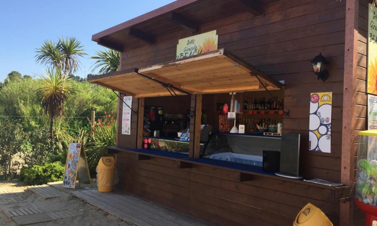 Strandbaren ved Girasole