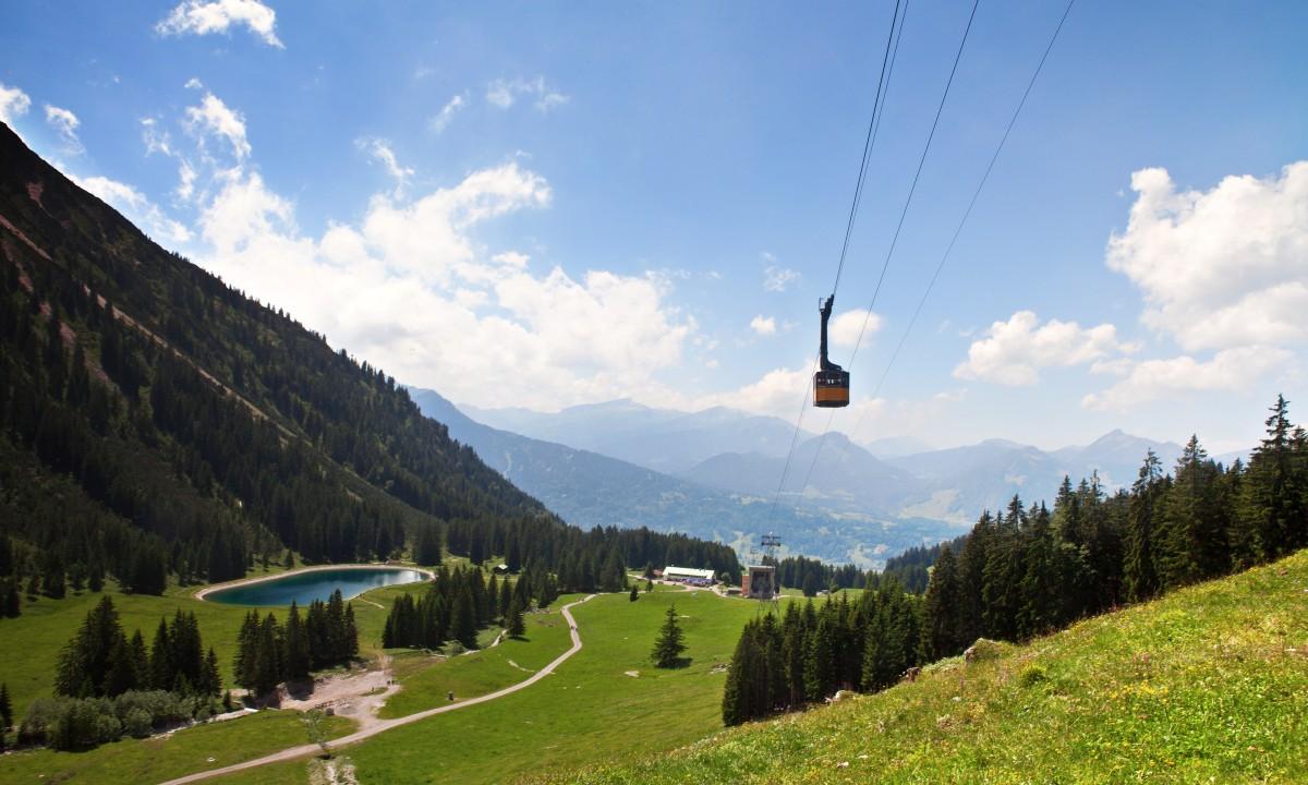 Svaevebanen Nebelhorn i Allgäuer Alpen