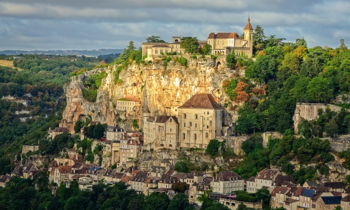Rocamadour slot i Dordogne, Frankrig